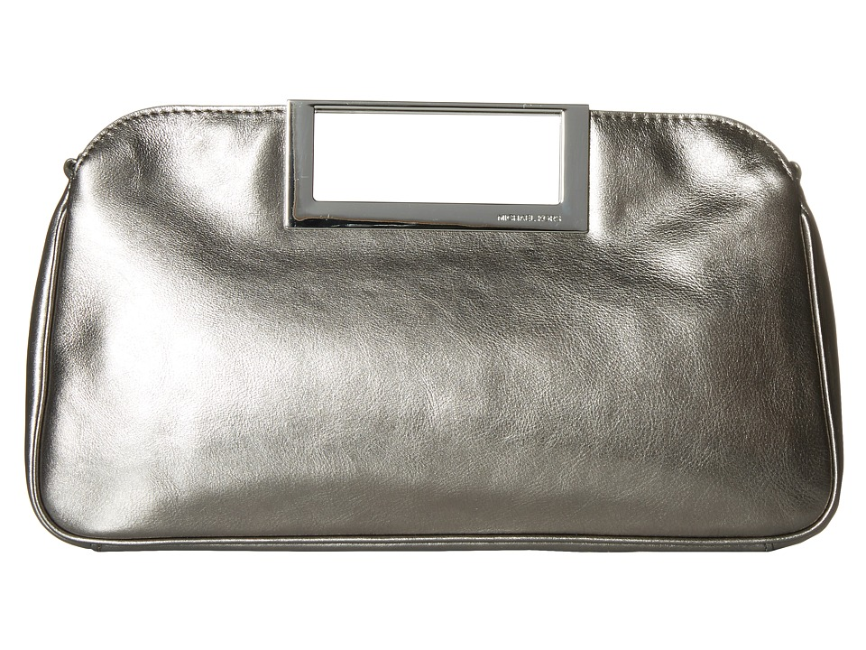 MICHAEL Michael Kors - Berkley Large Clutch (Gunmetal) Clutch Handbags