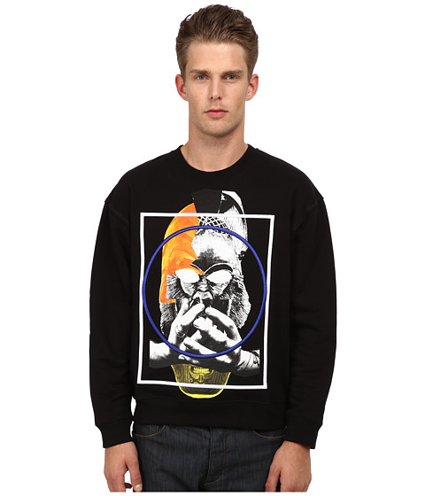 McQ - Oversized Sweatshirt (Darkest Black) Men