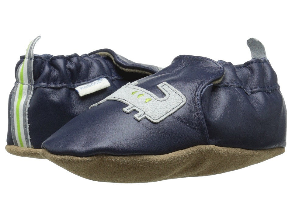 Robeez - Alfred The Alligator Soft Sole (Infant/Toddler) (Navy) Boys Shoes
