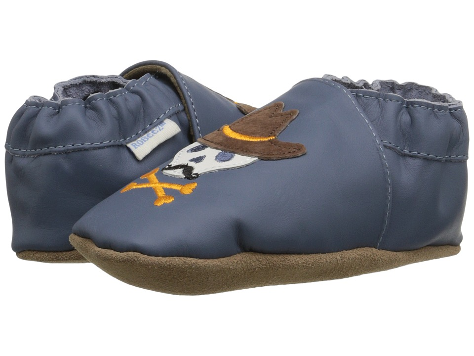 Robeez - Buck A Roo Buddies Soft Sole (Infant/Toddler) (China Blue) Boys Shoes
