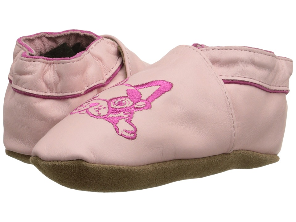 Robeez - Puppy Love Soft Sole (Infant/Toddler) (Pink) Girls Shoes