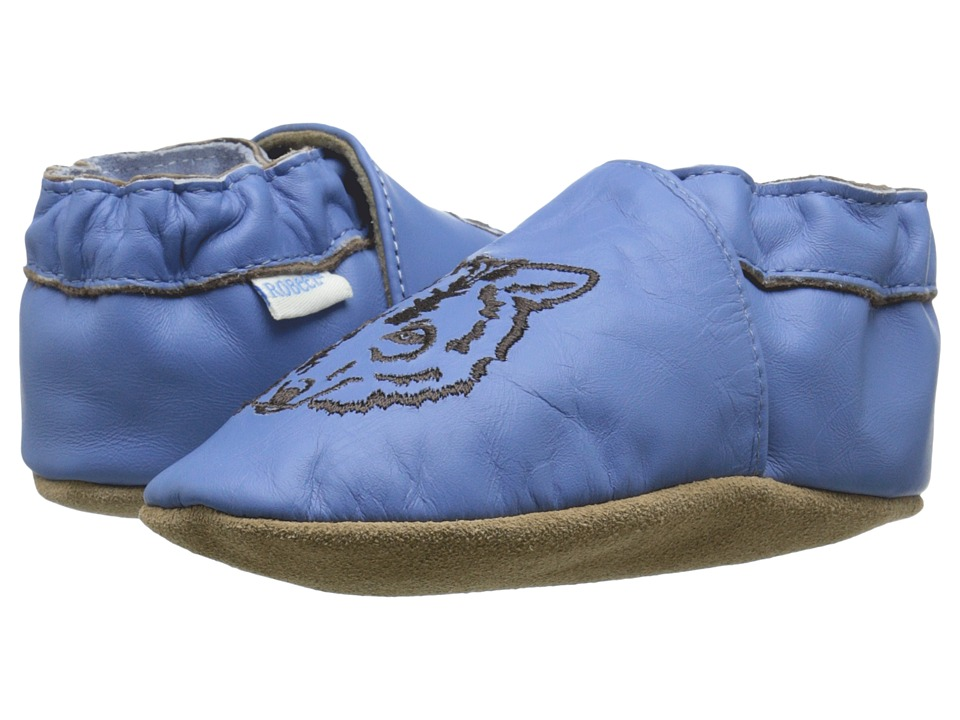 Robeez Wandering Wolf Soft Sole (Infant/Toddler) (Ocean Blue) Boys Shoes