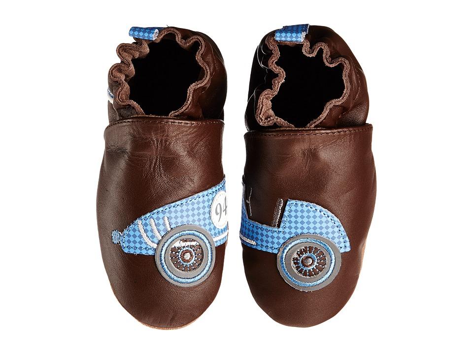 Robeez - Let's Roll Soft Sole (Infant/Toddler) (Brown) Boys Shoes