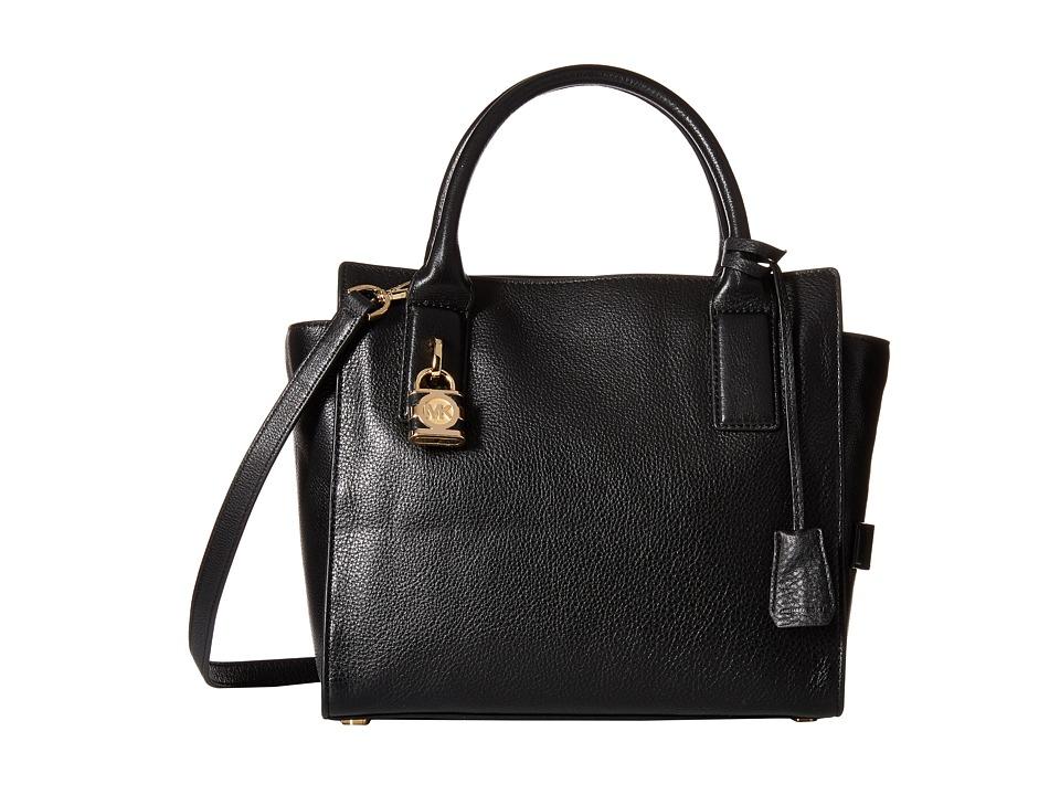 MICHAEL Michael Kors - Mckenna Medium Satchel (Black) Satchel Handbags