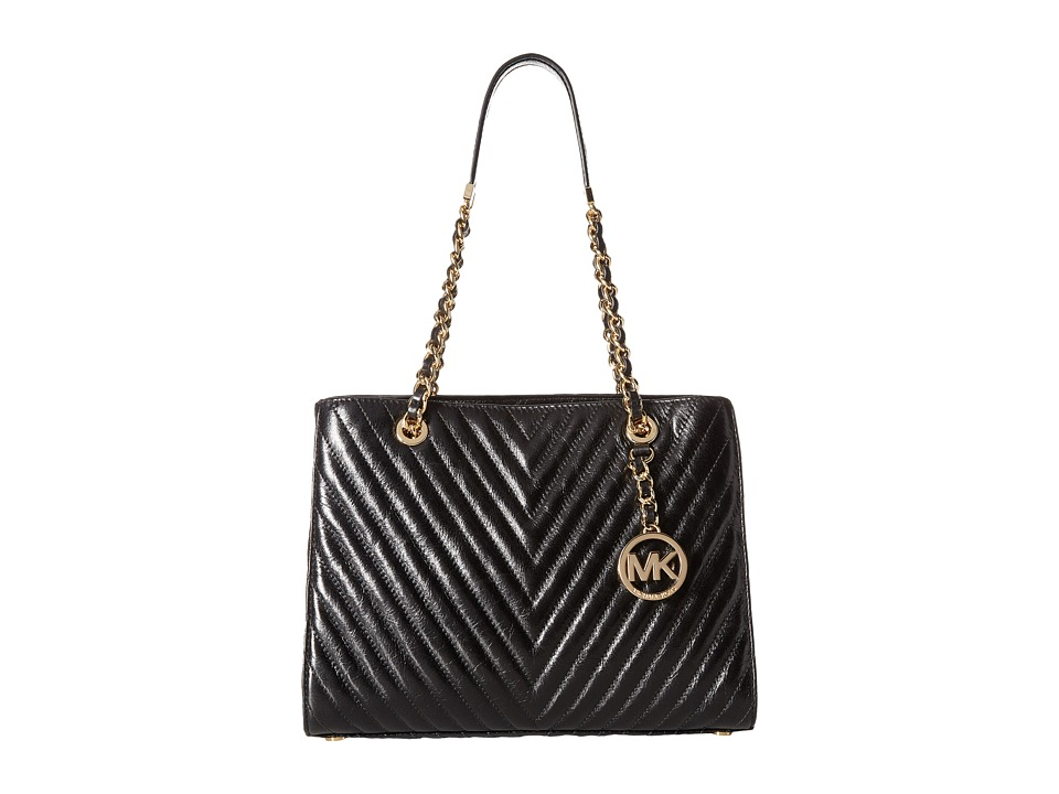 MICHAEL Michael Kors - Susannah Medium Tote (Black) Tote Handbags
