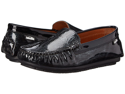 Venettini Kids - 55-Gordy (Toddler/Little Kid/Big Kid) (Black Brush Patent/Black Patent) Girls Shoes