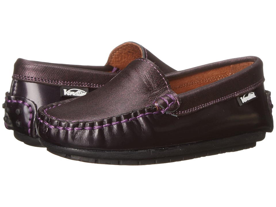 Venettini Kids - 55-Gordy (Toddler/Little Kid/Big Kid) (Purple Pearlized Oil/Purple Tweed Leather) Girls Shoes