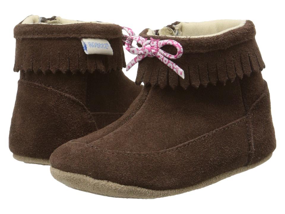 Robeez - Flying Francesca Mini Shoez (Infant/Toddler) (Espresso) Girls Shoes