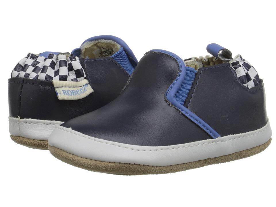 Robeez Stars Bars Mini Shoez (Infant/Toddler) (Navy) Boys Shoes