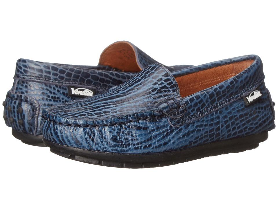 Venettini Kids - 55-Gordy (Toddler/Little Kid/Big Kid) (Navy Safari Leather) Boys Shoes