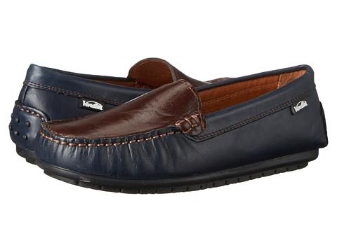 Venettini Kids - 55-Gordy (Toddler/Little Kid/Big Kid) (Navy Wax Leather/Dark Brown Wax Leather) Boys Shoes