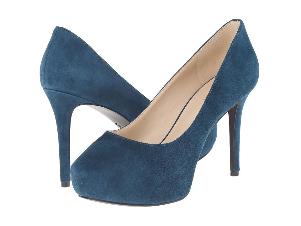 Nine West - Juliette (Blue Green Suede) High Heels