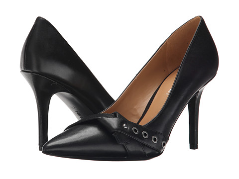 Nine West - Julip (Black Leather) High Heels