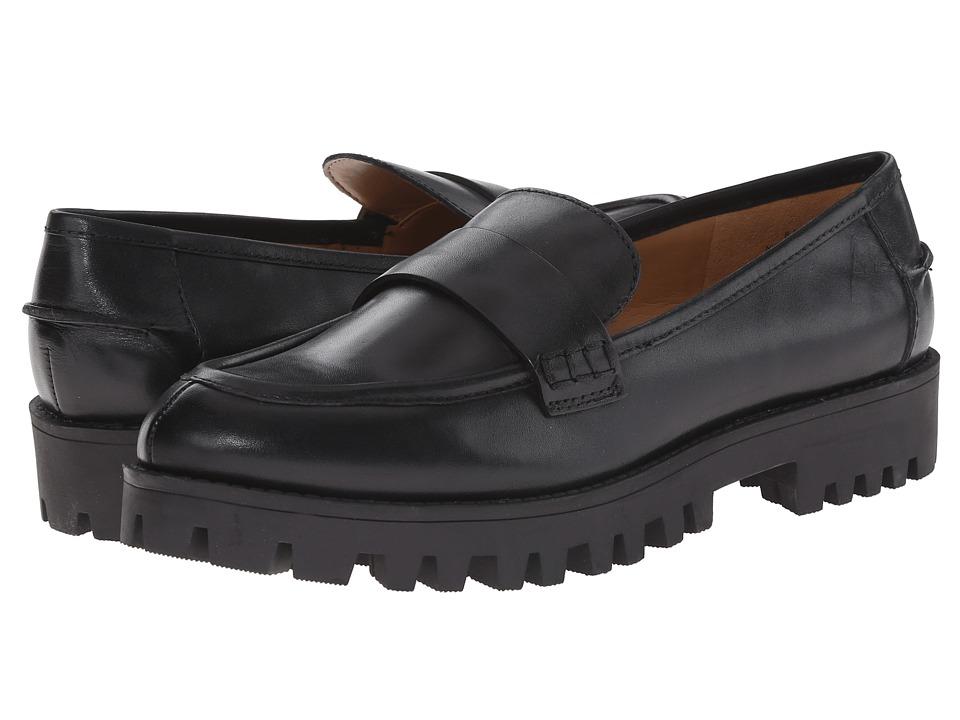 Nine West - Juniper (Black Leather) Women's Slip on Shoes