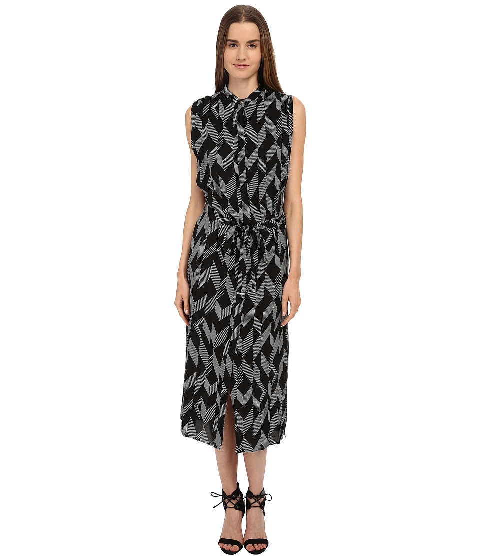 Paul Smith - Sleeveless Tie Dress (Black) Women's Dress