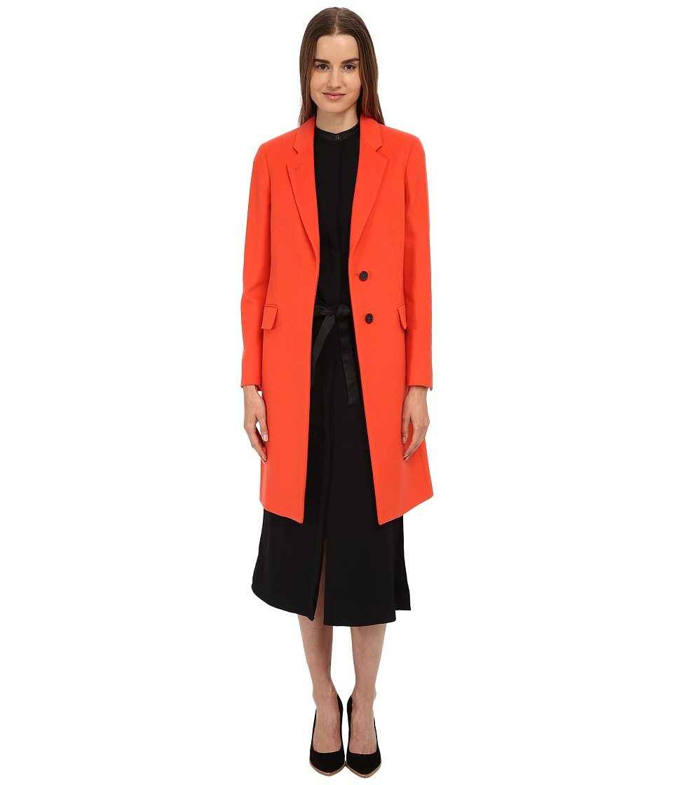 Paul Smith - Wool/Cashmere Blend Overcoat (Orange) Girl's Coat