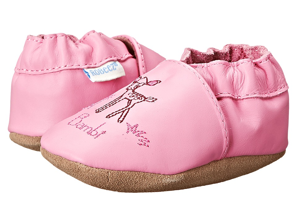 Robeez - Disney Baby By Robeez Bashful Bambi Soft Sole (Infant/Toddler) (Prism Pink) Girls Shoes