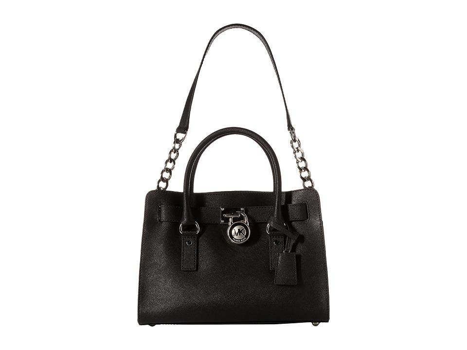 MICHAEL Michael Kors - Hamilton East/West Satchel (Black) Satchel Handbags