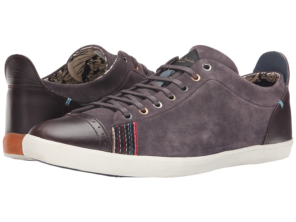 Paul Smith - Silky Suede Vestri Sneaker (Black Cherry) Men's Shoes
