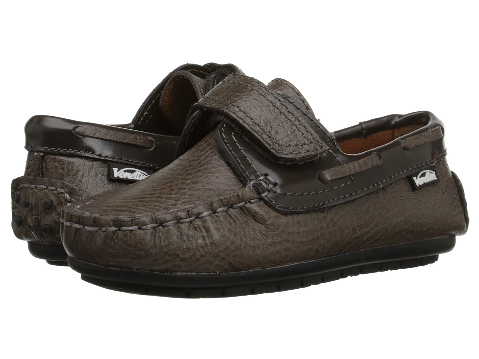 Venettini Kids - 55-Samy2 (Toddler/Little Kid) (Wood Crazy Leather/Grey Oil Leather) Boy's Shoes