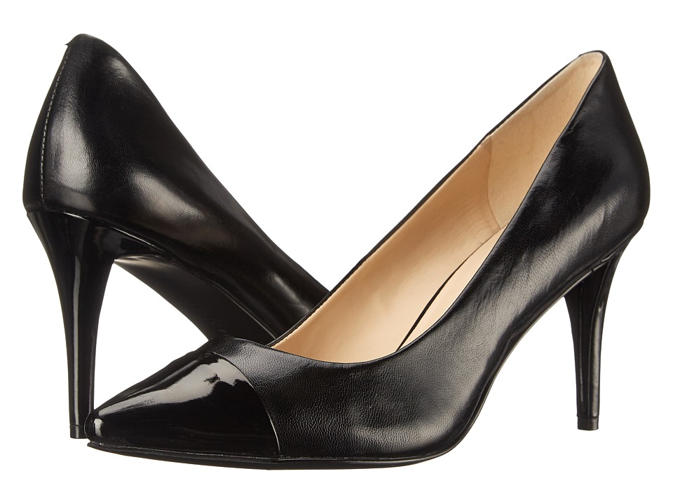 Nine West - Pano (Black/Black Leather) High Heels