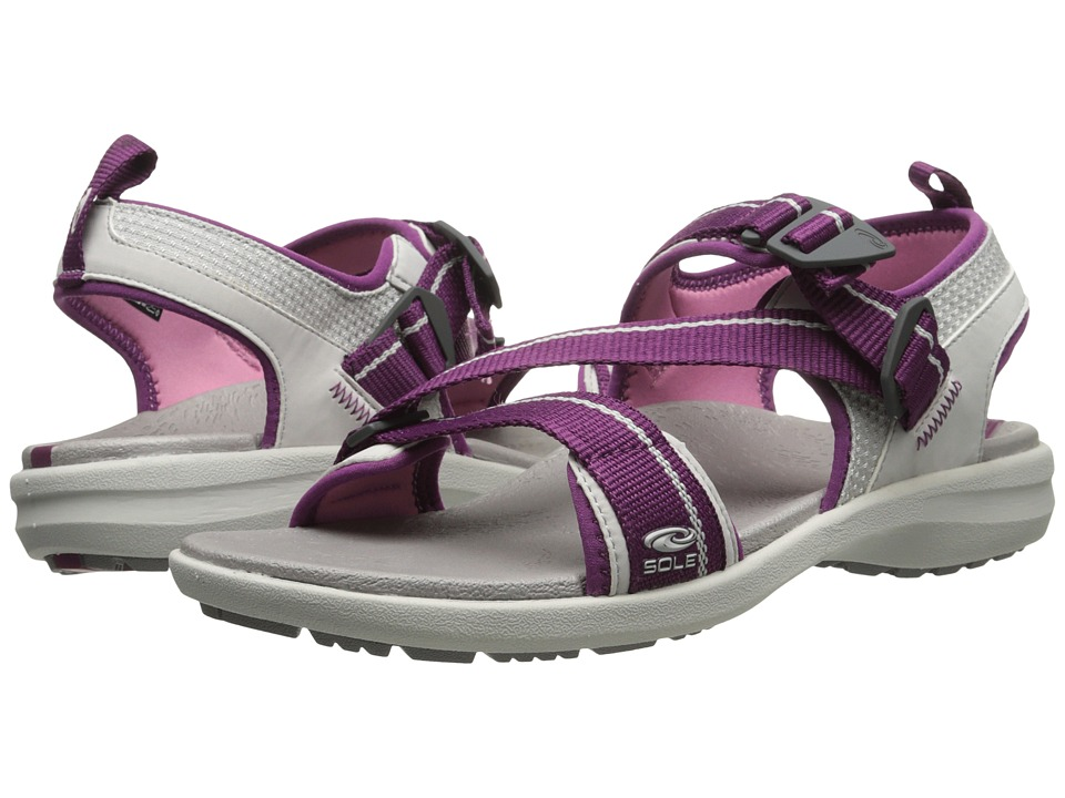 SOLE - Navigate (Mulberry) Women's Sandals