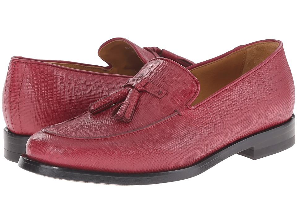 Paul Smith - Saffialino Stevenson Loafer (Oxblood) Women's Slip on Shoes