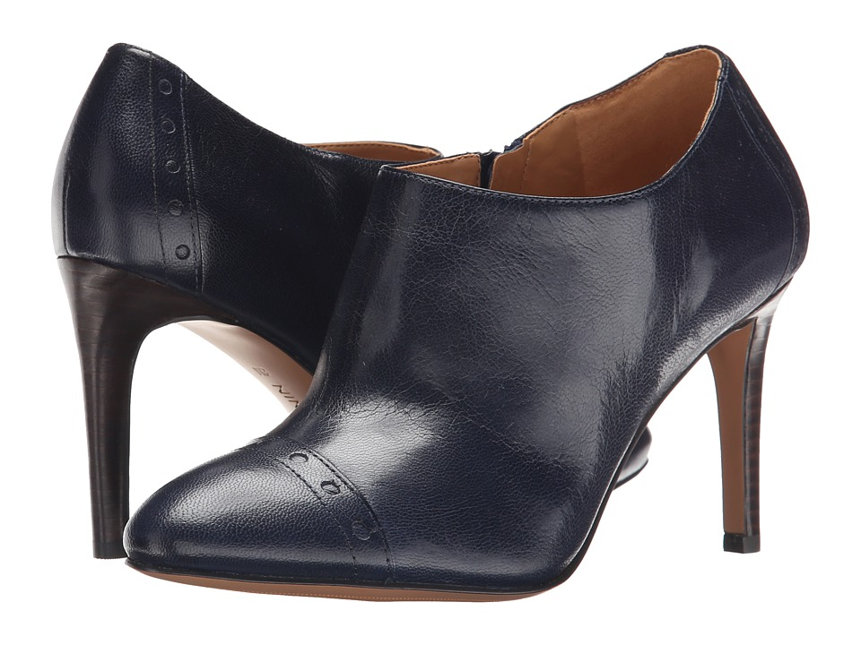 Nine West - Phyliss (Navy Leather) Women