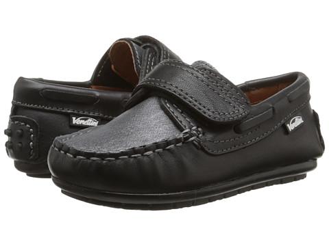 Venettini Kids - 55-Samy 4 (Toddler/Little Kid) (Dark Grey Wax Leather/Grey Tweed Leather) Boys Shoes