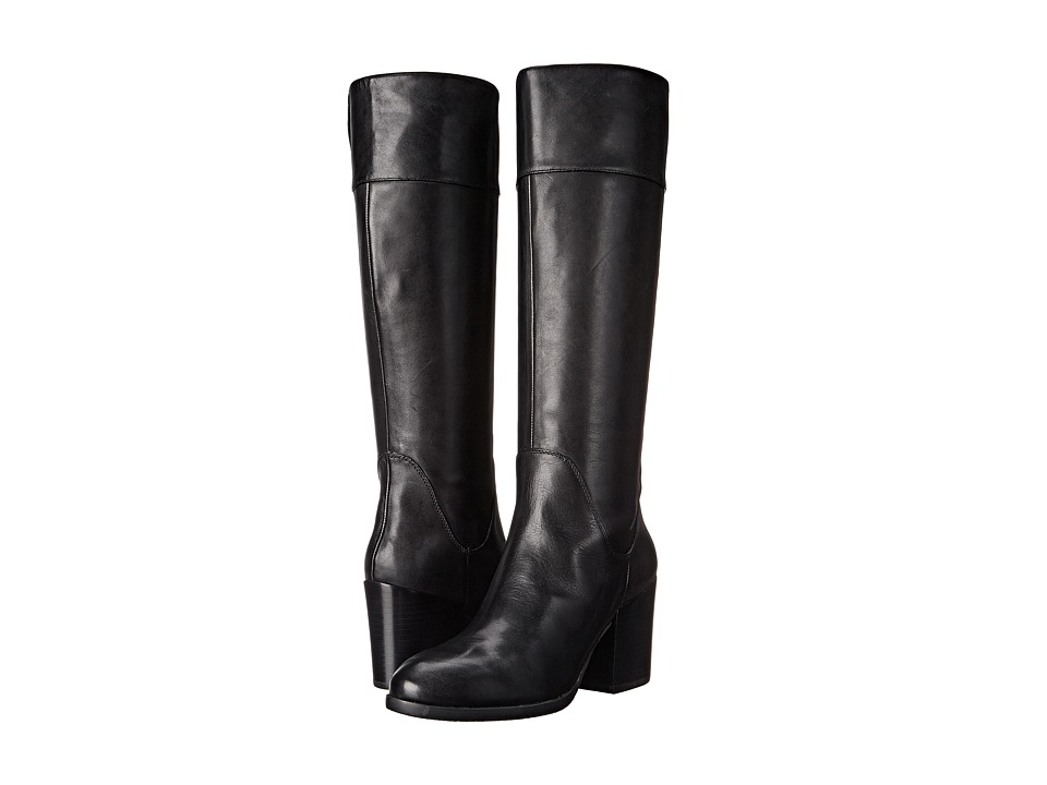 Nine West Relevint Black Leather Womens Boots