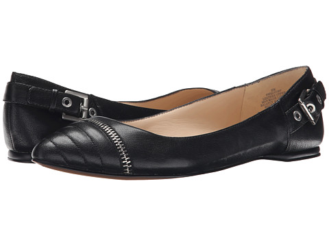 Nine West - Savory (Black Leather) Women's Flat Shoes