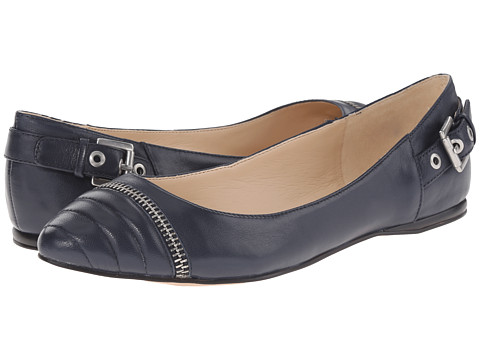 Nine West - Savory (Navy Leather) Women's Flat Shoes