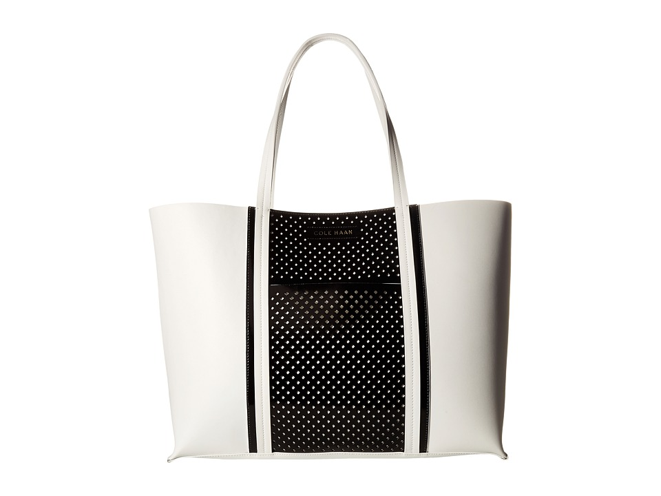 Cole Haan - Everett Large Tote (Optic White/Black) Tote Handbags