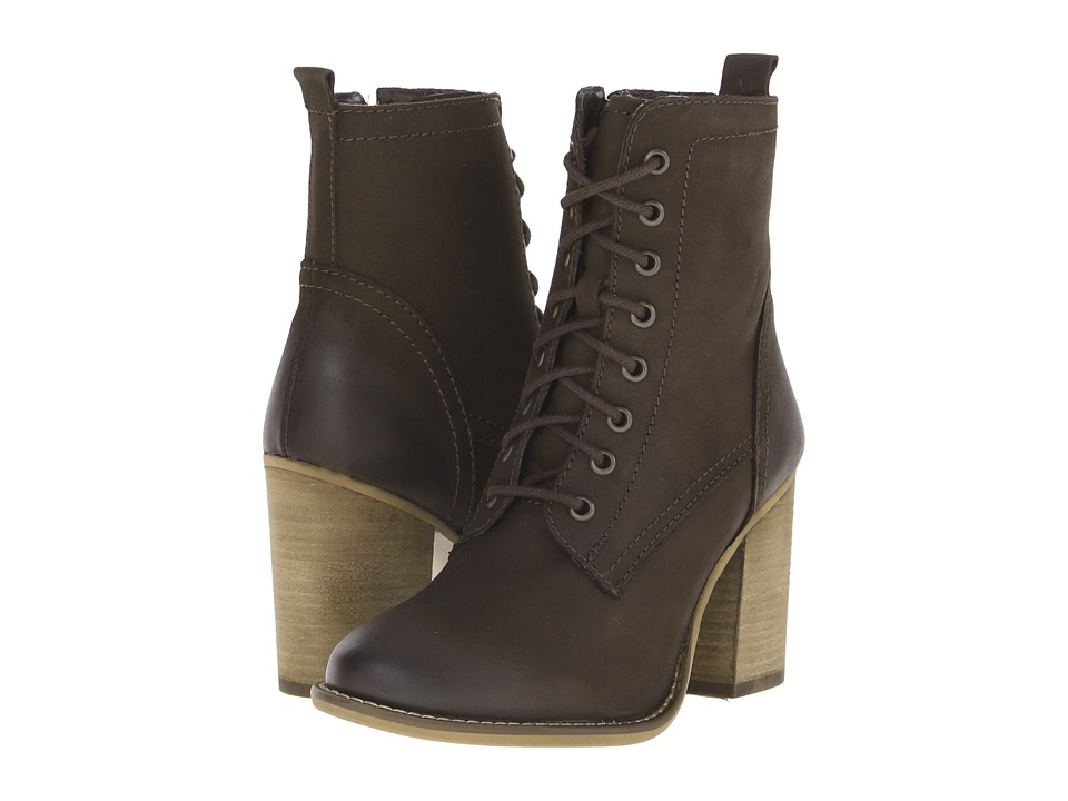 Steve Madden - Lauuren (Brown Nubuck) Women's Dress Lace-up Boots