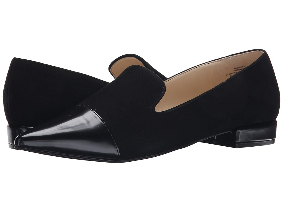 Nine West - Trainer (Black/Black Suede) Women's Flat Shoes