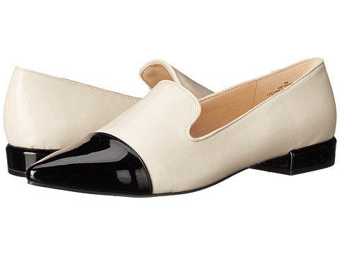 Nine West - Trainer (Off White/Black Leather) Women