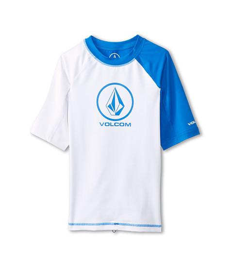 Volcom Kids - Color Block Short Sleeve (Little Kids/Big Kids) (White) Boy