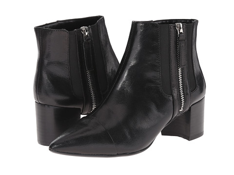 Nine West - Wasabi (Black/Black Leather) Women's Zip Boots