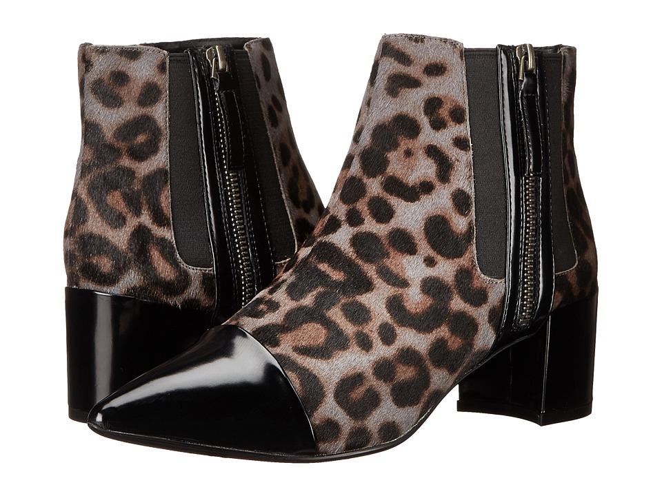 Nine West - Wasabi (Dark Grey Multi/Black Pony) Women's Zip Boots
