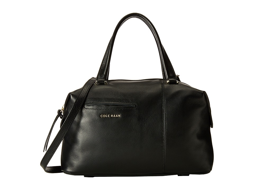 Cole Haan - Omega Large Satchel (Black) Satchel Handbags