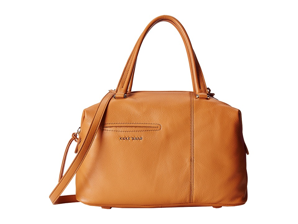 Cole Haan - Omega Large Satchel (Dark Vachetta) Satchel Handbags