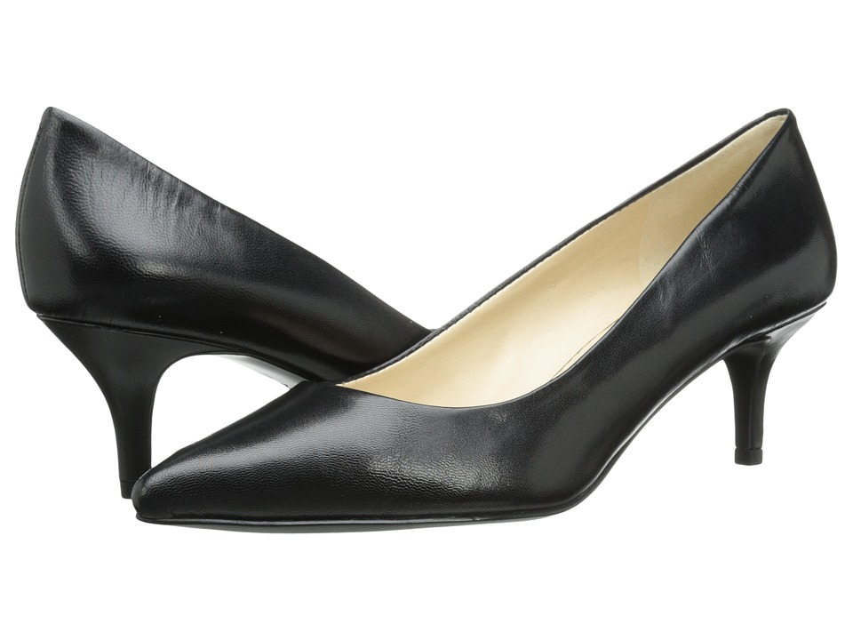 Nine West - Xeena (Black Leather) Women's 1-2 inch heel Shoes