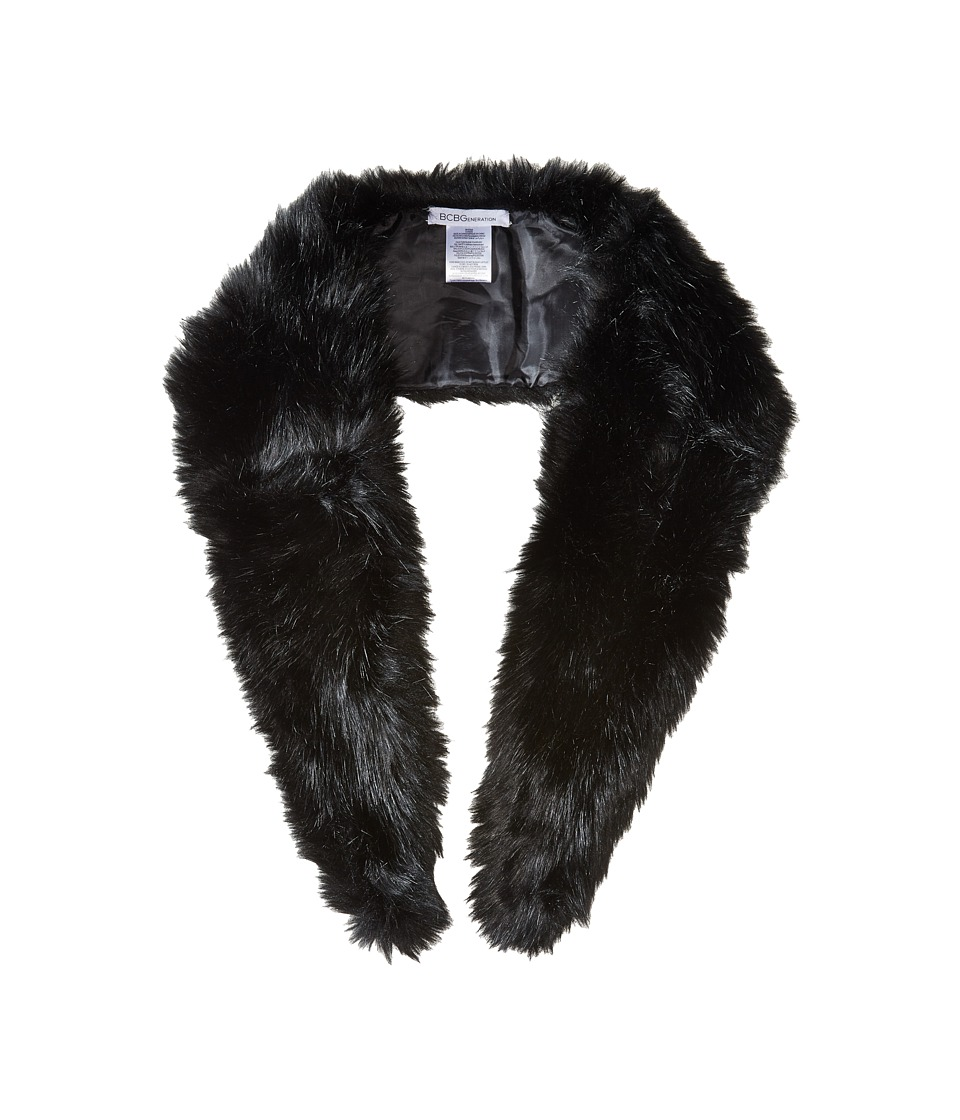Image of BCBGeneration - Faux Fur Stole (Jet Black) Scarves