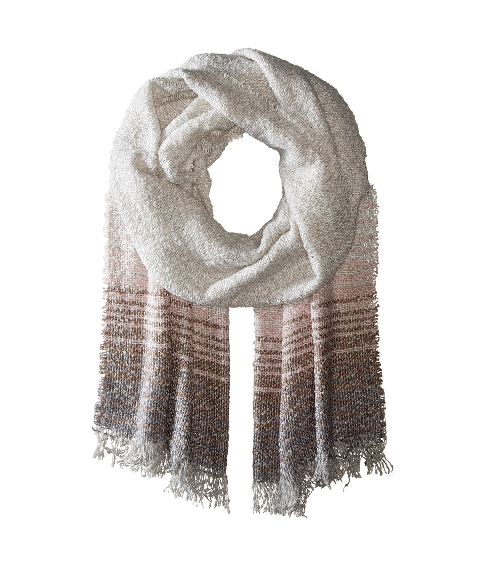 BCBGeneration - Ombre Stripe Oversized Wrap (Antic Grey) Scarves
