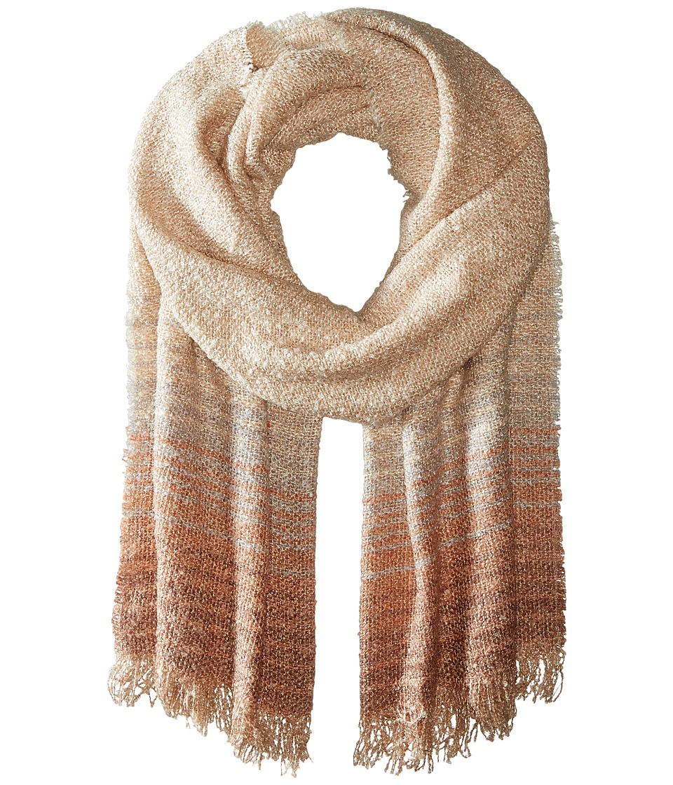 BCBGeneration - Ombre Stripe Oversized Wrap (Sienna) Scarves