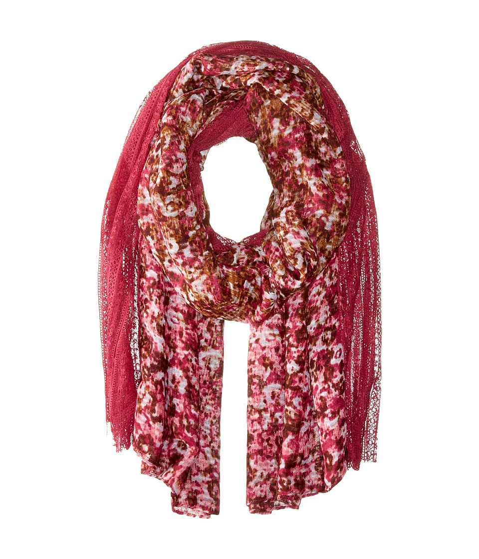 BCBGeneration - Cabbage Floral (Crushed Berry) Scarves
