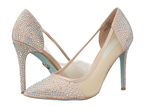 Blue by Betsey Johnson - Elise (Champagne Fabric) High Heels