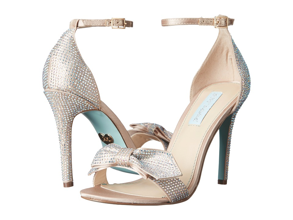Blue by Betsey Johnson Gwen (Champagne Satin) High Heels