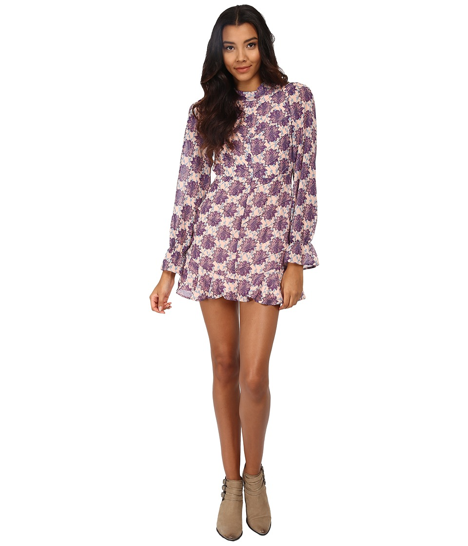 For Love and Lemons - Clover Mini Dress (Lilac Print) Women's Dress