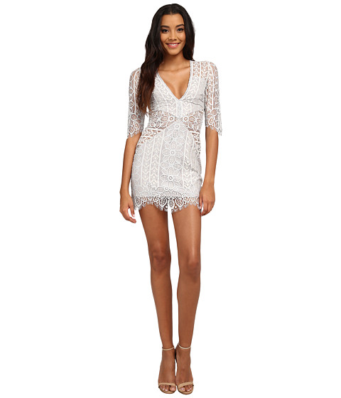 For Love and Lemons - Lyla Cocktail Dress (Silver) Women's Dress